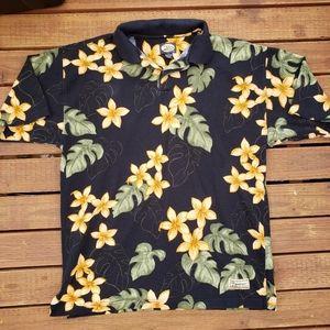 Tommy Bahama Floral Polo Shirt Size Medium